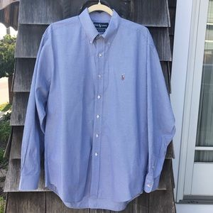Ralph Lauren Shirt Button-down Blue Size 16 34-35